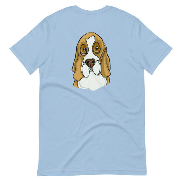 Beagle Face Short-Sleeve Unisex T-Shirt