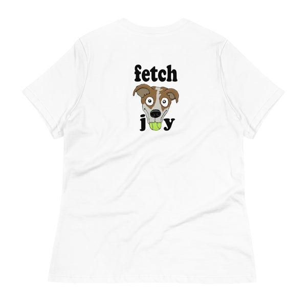 Fetch Joy Jack Russell Terrier Women's Relaxed T-Shirt