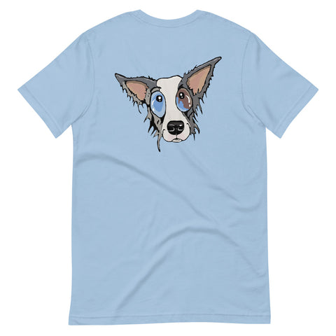 Blue Merle Border Collie Short-Sleeve Unisex T-Shirt