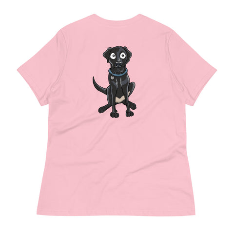 Black Labrador Retriever Women's Relaxed T-Shirt