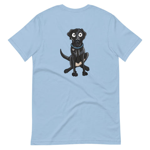Black Labrador Retriever Short-Sleeve Unisex T-Shirt