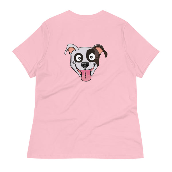 Brindle Pit Bull Face Women's Relaxed T-Shirt