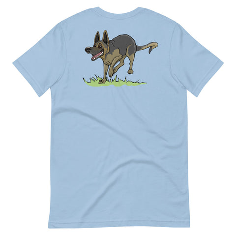 Frolicking German Shepherd Short-Sleeve Unisex T-Shirt