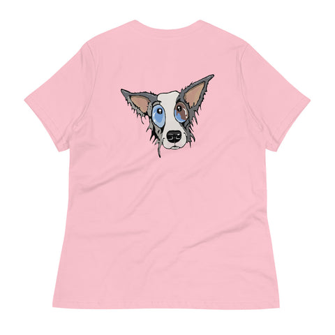 Blue Merle Border Collie Women's Relaxed T-Shirt