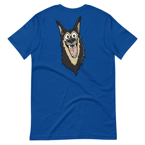German Shepherd Smile Short-Sleeve Unisex T-Shirt