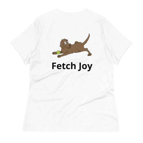 Fetch Joy Chocolate Labrador Retriever Women's Relaxed T-Shirt