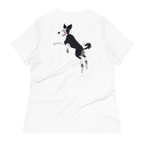Bouncing Border Collie Women's Relaxed T-Shirt