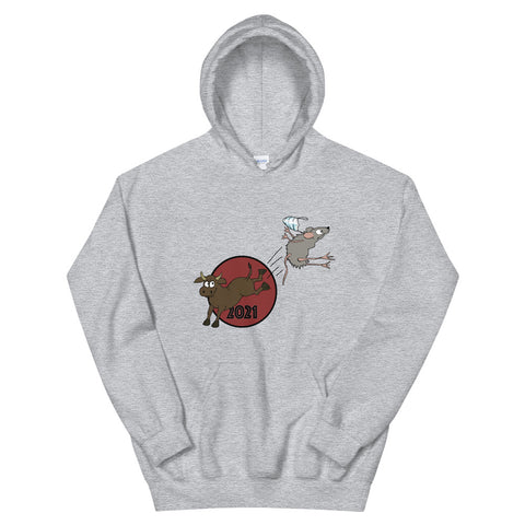 Hello 2021 Year of the Ox! Bye-bye 2020 Year of the Rat Hoodie