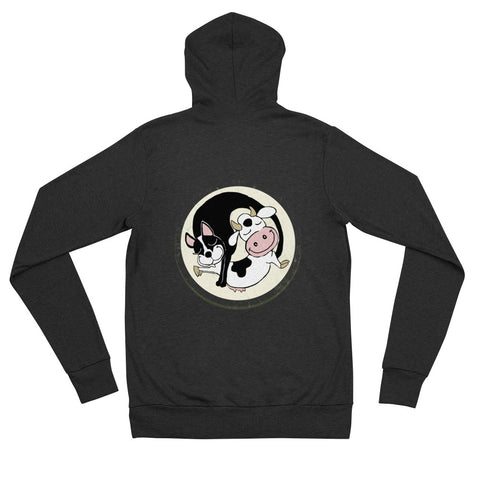 Cat and Cow Zip hoodie