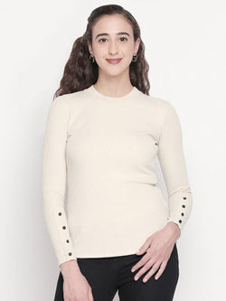 solid top with button detailed