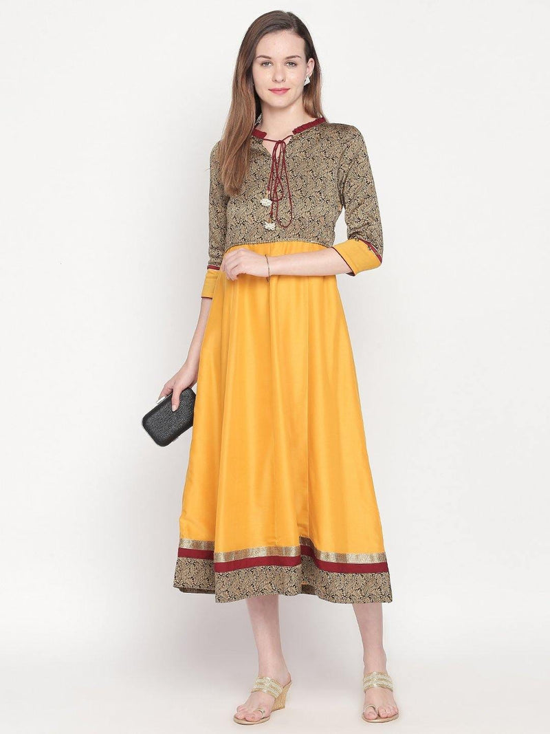 Black Anarkali - Apparel by mesmerize india