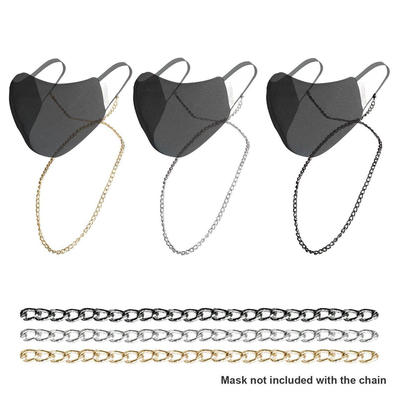 Chiselled Metallic Chain for Masks