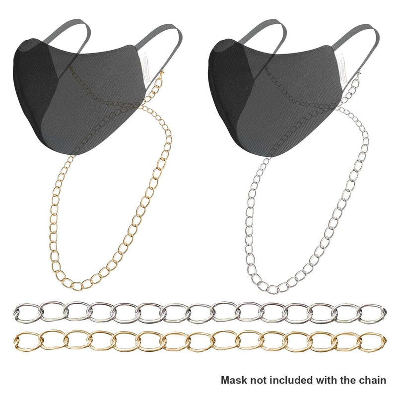 Glossy Metallic Chain for Masks - Mesmerize India