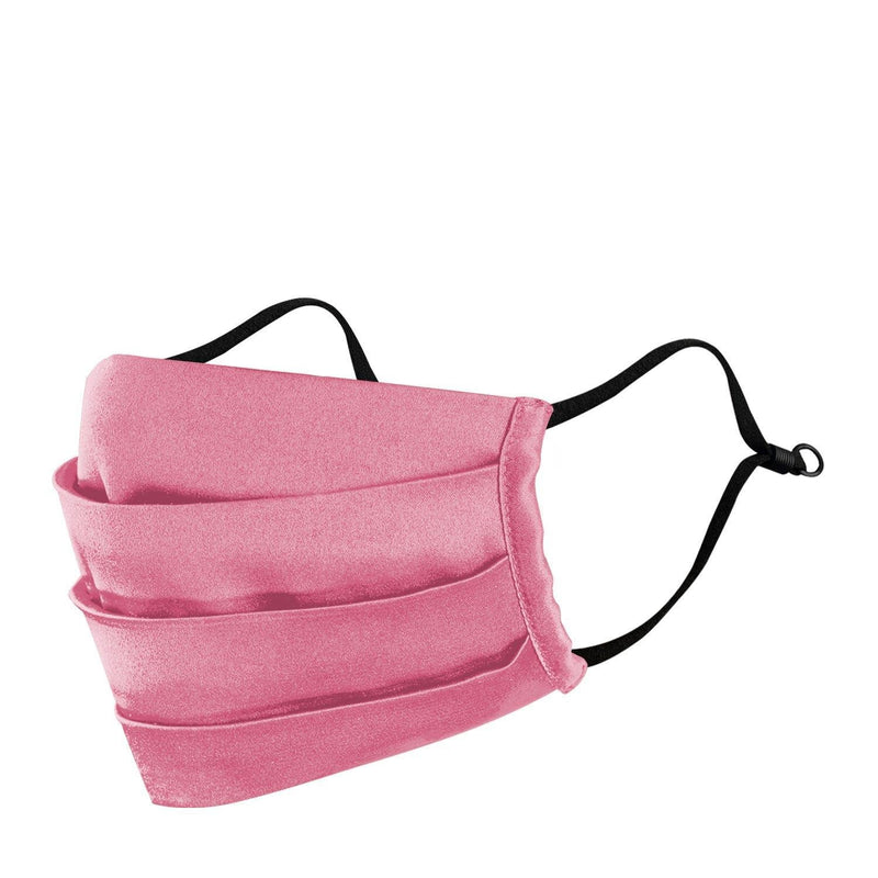 Passion pink satin pleated mask available only on Mesmerize India. Made in India with love. Go vocal for local