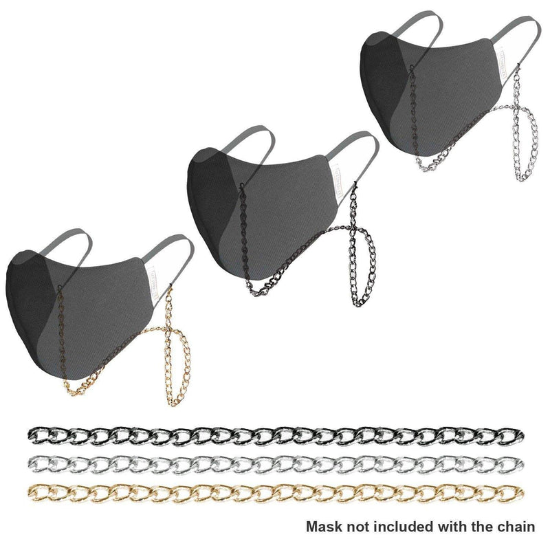 Chiselled Metallic Chain for Masks - Mesmerize India