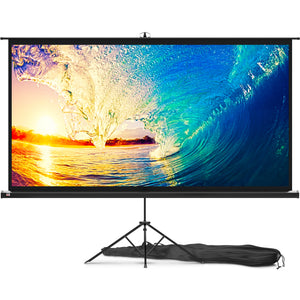 Portable Projector Screen with Stand 100 inch