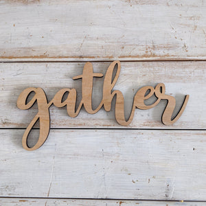 Gather Wood Cutout- Bundle of 5