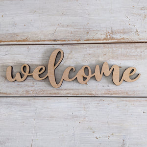 Welcome Wood Cutout- Bundle of 5