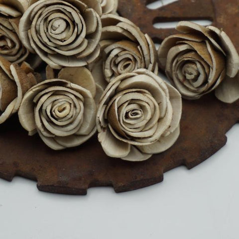 Bark Rose - 1.5 inches - sold by the dozen - sola wood flowers wholesale
