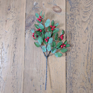 Holly Stem - faux - sola wood flowers wholesale