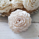 Clara Rose  - set of 12-  Multiple sizes available - sola wood flowers wholesale