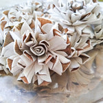 Vanilla Twist - set of 12-  2.5 inches - sola wood flowers wholesale