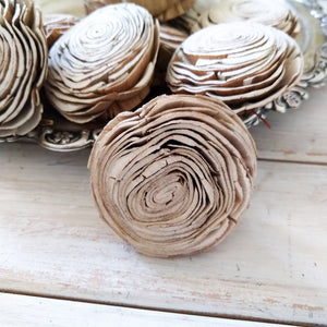 Bark Wonderland  - set of 12-  2.5 inches - sola wood flowers wholesale