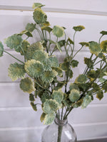 Small Mint Leaves Greenery - faux - sola wood flowers wholesale