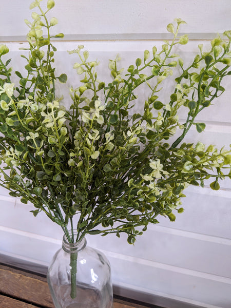 Green and Yellow Boxwood Leaves - sola wood flowers wholesale