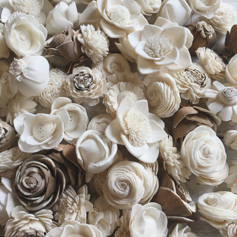 Mini Assortment - set of 50 - sola wood flowers wholesale