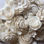 Cream Sola Flower Assortment - set of 50 - sola wood flowers wholesale