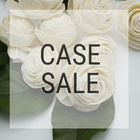 Case Sale - American Beauty 2 inches - 1100 Flowers - sola wood flowers wholesale