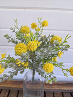 Billy Ball Bunch  -yellow- faux - sola wood flowers wholesale
