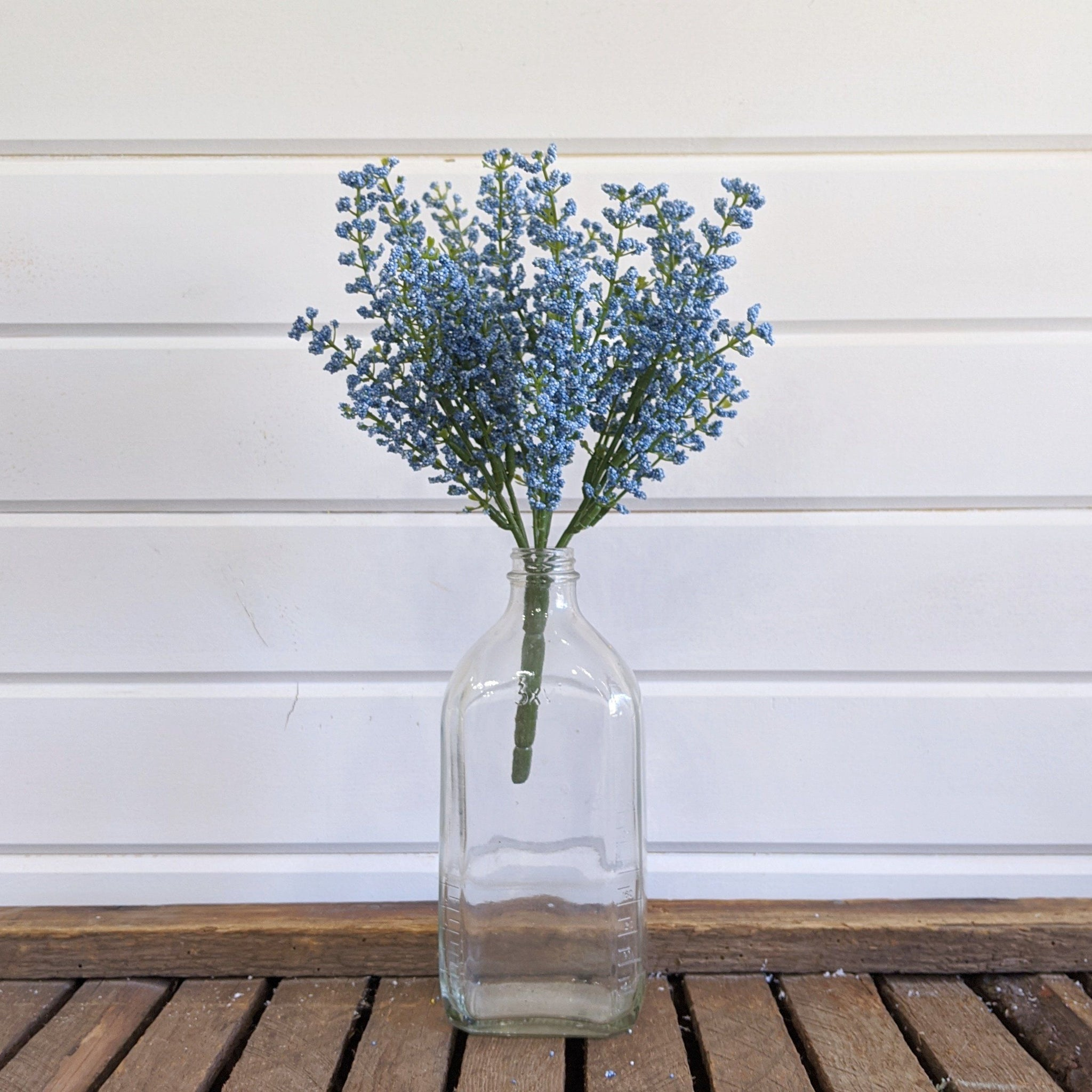 Blue Astilbe  - faux - sola wood flowers wholesale