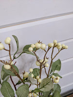 Cream Berry Spray- Artificial Greenery - sola wood flowers wholesale