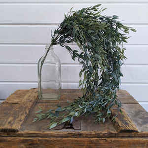 Italian Ruscus Hanging Artificial Greenery - 34 inches - sola wood flowers wholesale