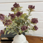 Fall Laurel with Plum Colored Flowers- Faux _sola_wood_flowers