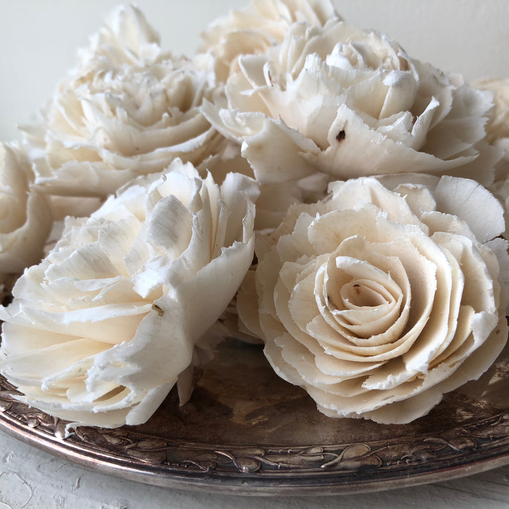 Sophia Flowers  - set of 12 - multiple sizes available - - sola wood flowers wholesale