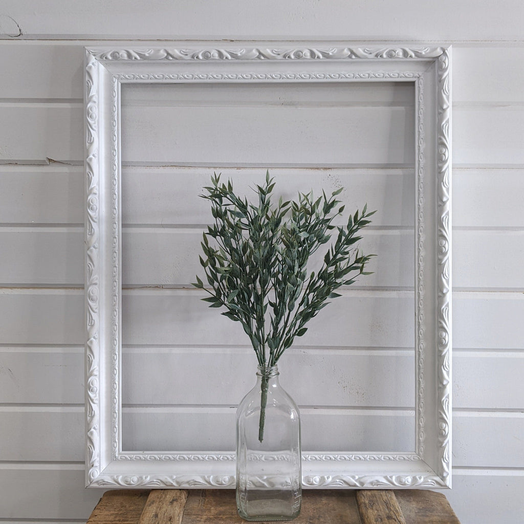 Italian Ruscus stem Artificial Greenery - 14 inches - sola wood flowers wholesale
