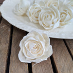 Julia Rose  - set of 12- 2.5 inches - sola wood flowers wholesale