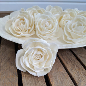 Julia Rose™- set of 12- 3 inches _sola_wood_flowers