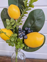 Lemon Mixed Greenery- Artificial Greenery - sola wood flowers wholesale