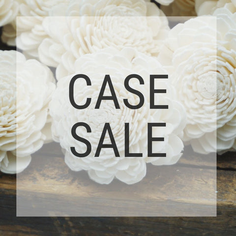 Case Sale - Marigold 1.5 inches - 2400 flowers - sola wood flowers wholesale