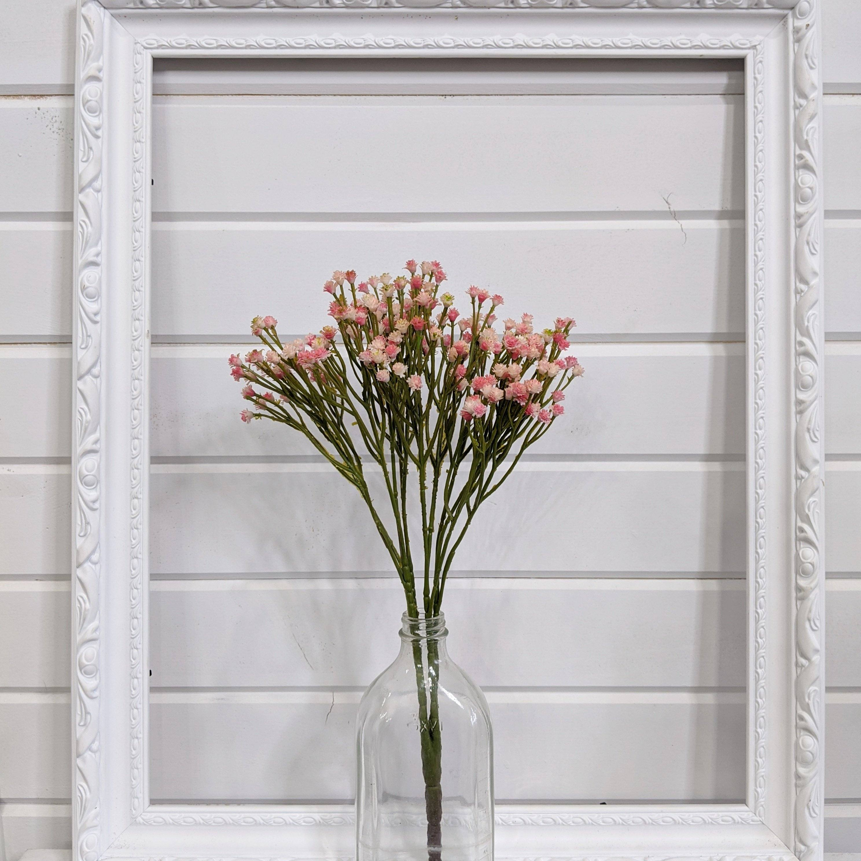 Pink Baby's Breath - faux - sola wood flowers wholesale