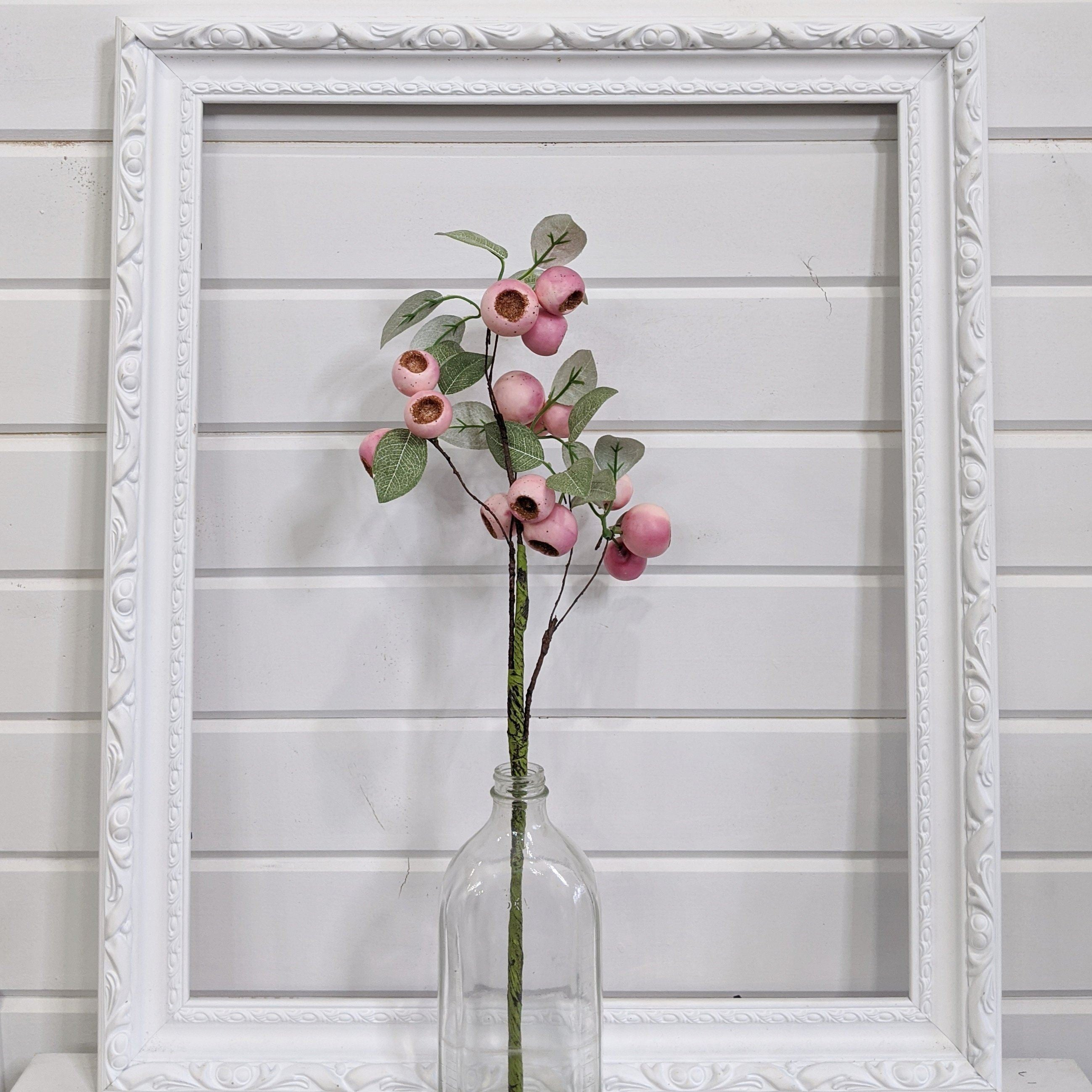 Pink seed pod - faux - sola wood flowers wholesale