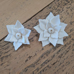 Poinsettia - set of  12- multiple sizes available - sola wood flowers wholesale
