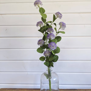 Purple Poof Ball Filler- faux - sola wood flowers wholesale