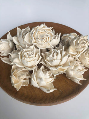 Garden Rose™- set of 12- 1.5 inches _sola_wood_flowers