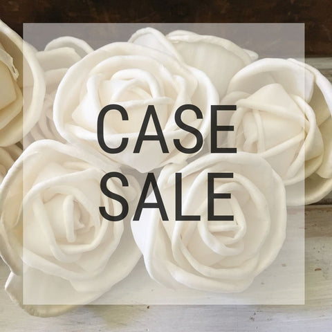 Case Sale - Rosa 2.5 Inches - 1000 Flowers - sola wood flowers wholesale
