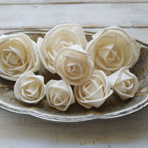 Rosa- Size Assortment- Set of 50 - sola wood flowers wholesale